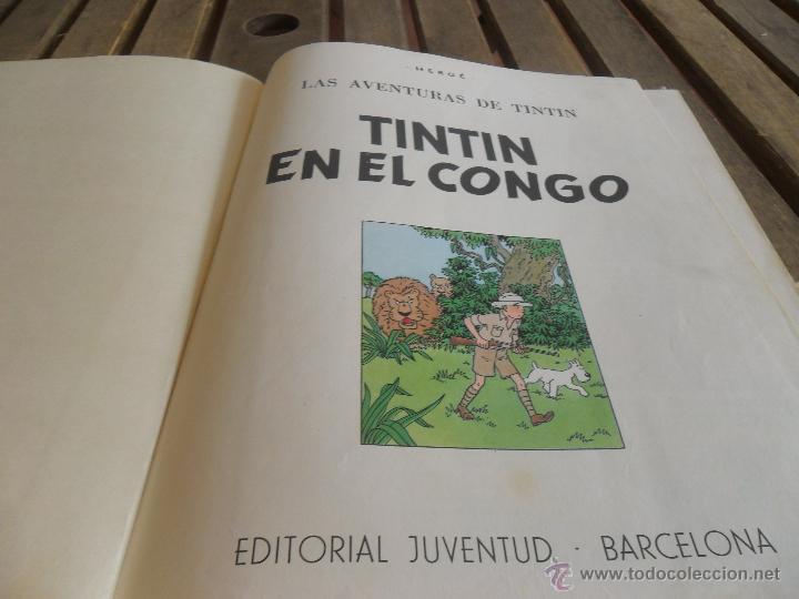 Cómics: LAS AVENTURAS DE TINTIN JUVENTUD SEGUNDA EDICION 1970 TINTIN EN EL CONGO - Foto 4 - 43883169