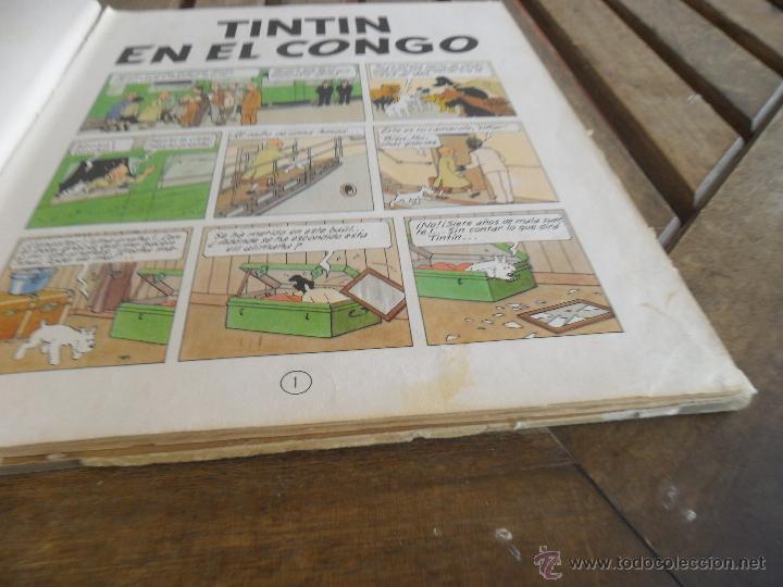Cómics: LAS AVENTURAS DE TINTIN JUVENTUD SEGUNDA EDICION 1970 TINTIN EN EL CONGO - Foto 6 - 43883169