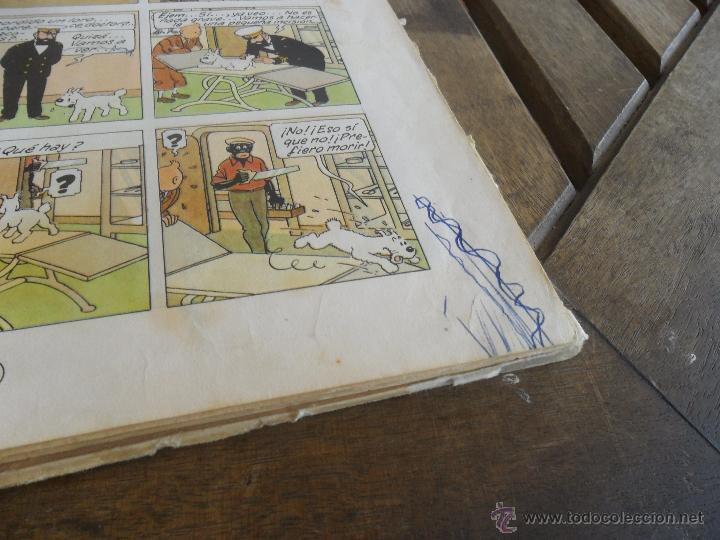 Cómics: LAS AVENTURAS DE TINTIN JUVENTUD SEGUNDA EDICION 1970 TINTIN EN EL CONGO - Foto 7 - 43883169