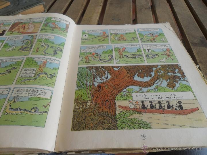 Cómics: LAS AVENTURAS DE TINTIN JUVENTUD SEGUNDA EDICION 1970 TINTIN EN EL CONGO - Foto 9 - 43883169