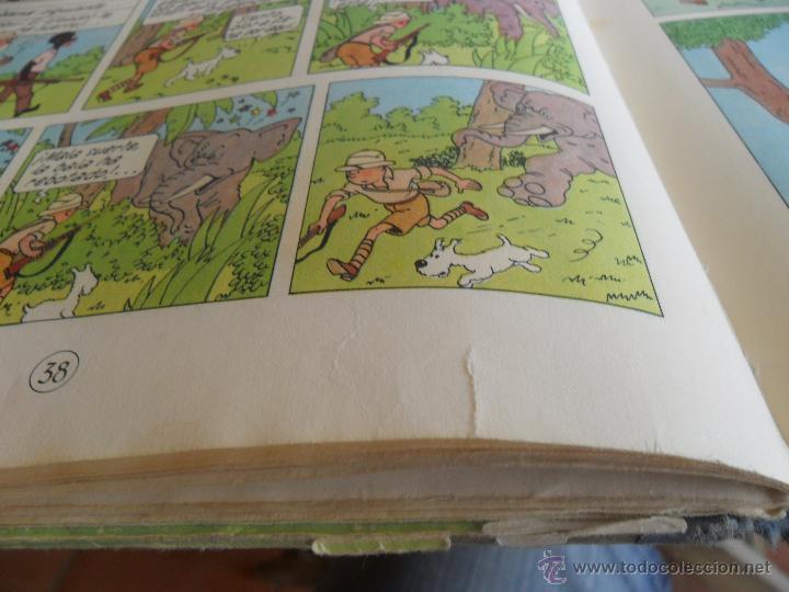 Cómics: LAS AVENTURAS DE TINTIN JUVENTUD SEGUNDA EDICION 1970 TINTIN EN EL CONGO - Foto 10 - 43883169