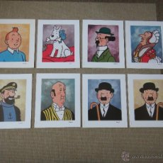 Cómics: TINTIN HERGE PORTRAITS 8 PERSONAJES CASTERMAN.. Lote 53677650