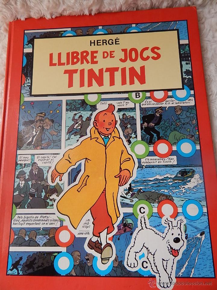 LLIBRE DE JOCS DE TINTIN -EN CATALA (Tebeos y Comics - Juventud - Tintín)
