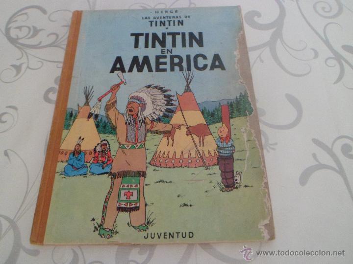 TINTIN EN AMERICA - PRIMERA EDICION 1968 - LOMO DE TELA (Tebeos y Comics - Juventud - Tintín)