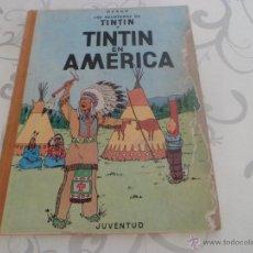 Cómics: TINTIN EN AMERICA - PRIMERA EDICION 1968 - LOMO DE TELA. Lote 44677732