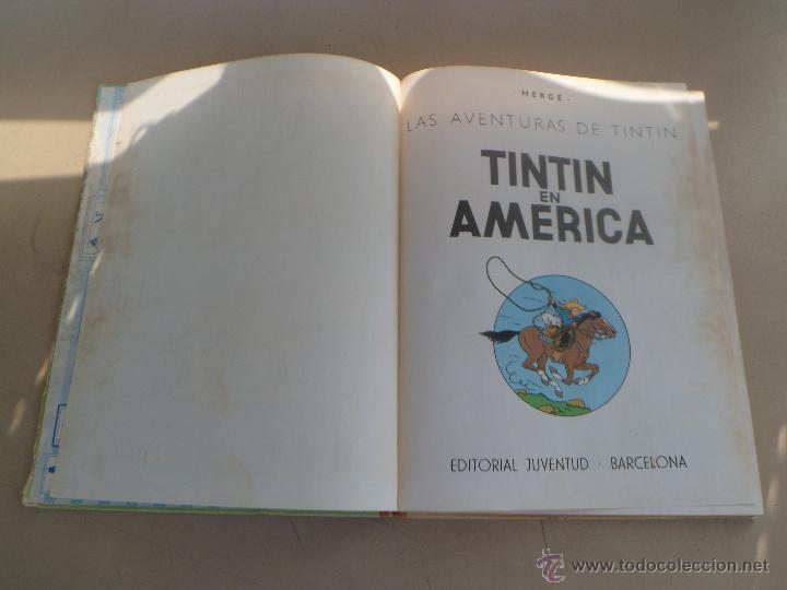 Cómics: TINTIN EN AMERICA - PRIMERA EDICION 1968 - LOMO DE TELA - Foto 6 - 44677732