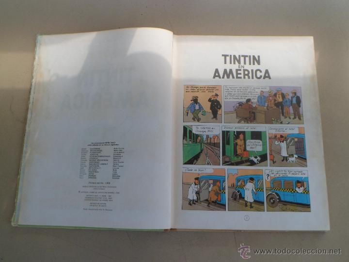 Cómics: TINTIN EN AMERICA - PRIMERA EDICION 1968 - LOMO DE TELA - Foto 7 - 44677732