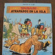 Cómics: YAKARI 9 ATRAPADOS EN LA ISLA. DERIB, JOB. EDITORIAL JUVENTUD 1988. COMIC TAPA DURA. Lote 46219280