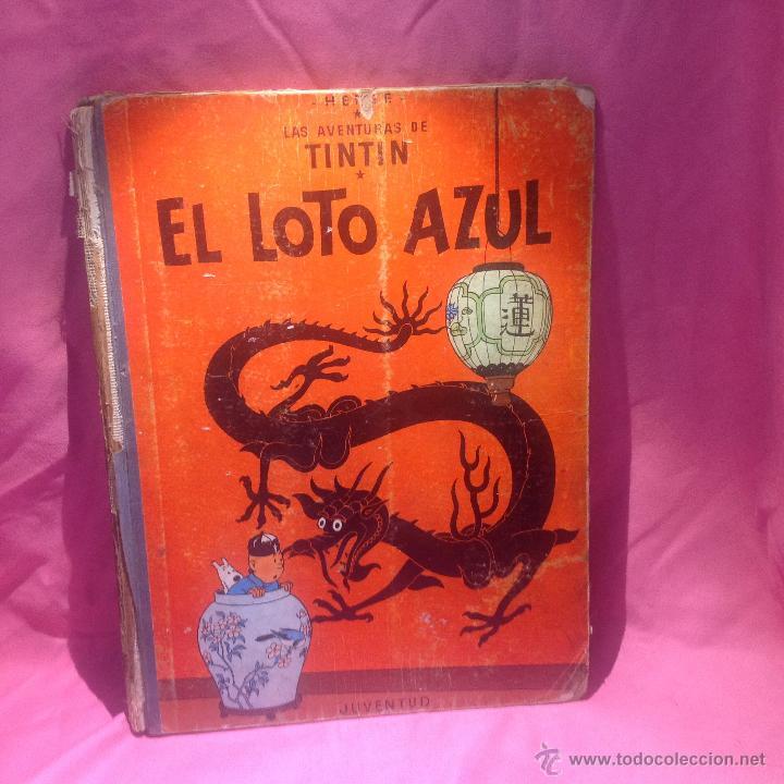 Cómics: LAS AVENTURAS DE TINTÍN (EL LOTO AZUL )primera edición 1965 - Foto 2 - 46516709