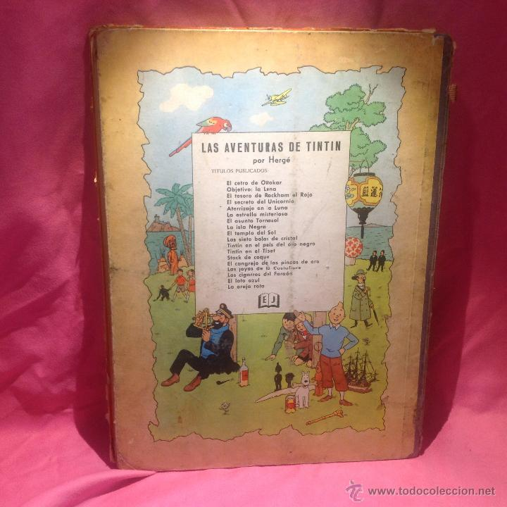 Cómics: LAS AVENTURAS DE TINTÍN (EL LOTO AZUL )primera edición 1965 - Foto 8 - 46516709