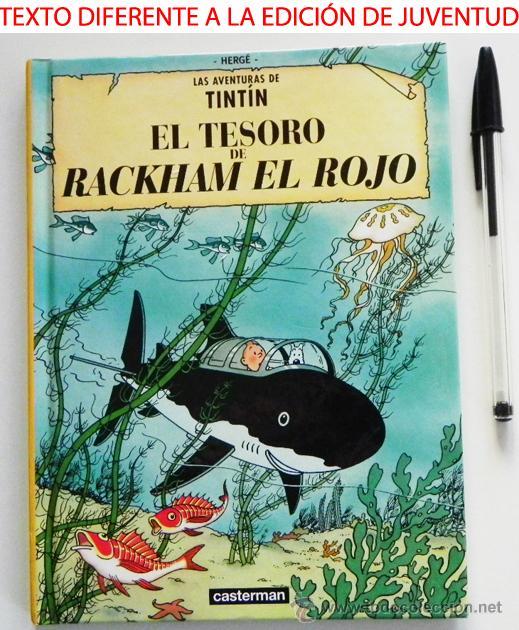 CÓMIC CASTERMAN - TINTÍN TESORO DE RACKHAM EL ROJO -TEXTO DIFERENTE A EDICIÓN JUVENTUD - PEQUEÑO (Tebeos y Comics - Juventud - Tintín)