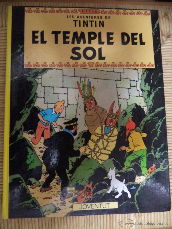COMIC TINTIN..EL TEMPLE DEL SOL ( TEXTO CATALÁN ) (Tebeos y Comics - Juventud - Tintín)