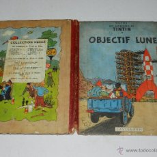 Cómics: TINTIN - OBJECTIF LUNE, EDT CASTERMAN PARIS, 1953 , SEÑALES DE USO. Lote 47345889