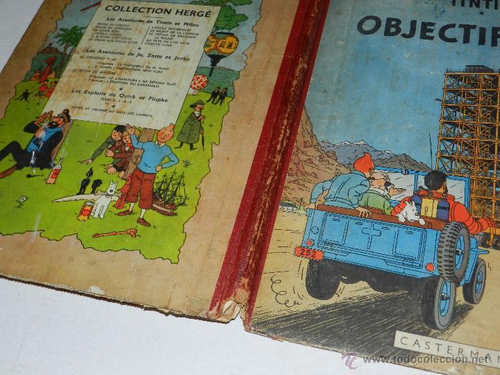 Cómics: TINTIN - OBJECTIF LUNE, EDT CASTERMAN PARIS, 1953 , SEÑALES DE USO - Foto 2 - 47345889