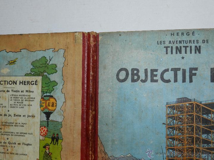 Cómics: TINTIN - OBJECTIF LUNE, EDT CASTERMAN PARIS, 1953 , SEÑALES DE USO - Foto 3 - 47345889