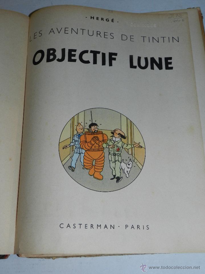 Cómics: TINTIN - OBJECTIF LUNE, EDT CASTERMAN PARIS, 1953 , SEÑALES DE USO - Foto 4 - 47345889