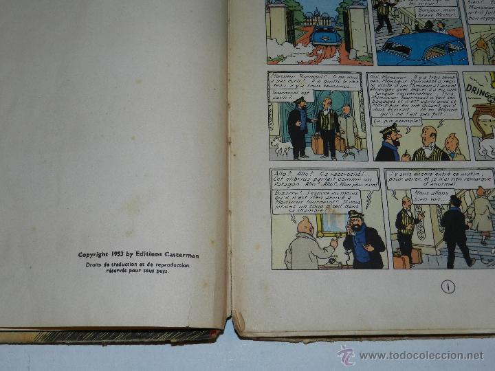 Cómics: TINTIN - OBJECTIF LUNE, EDT CASTERMAN PARIS, 1953 , SEÑALES DE USO - Foto 5 - 47345889