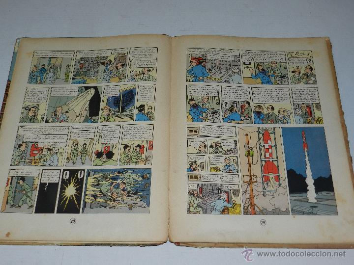Cómics: TINTIN - OBJECTIF LUNE, EDT CASTERMAN PARIS, 1953 , SEÑALES DE USO - Foto 6 - 47345889