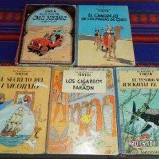 Cómics: TINTIN 4ª ED PAÍS ORO NEGRO CANGREJO PINZAS SECRETO UNICORNIO TESORO RACKHAM ROJO CIGARROS. REGALO!!. Lote 47568149