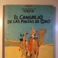 Cómics: LAS AVENTURAS DE TINTIN. EL CANGREJO DE LAS PINZAS DE ORO. HERGÉ. JUVENTUD 1968. 3ª EDICIÓN.. Lote 48538917