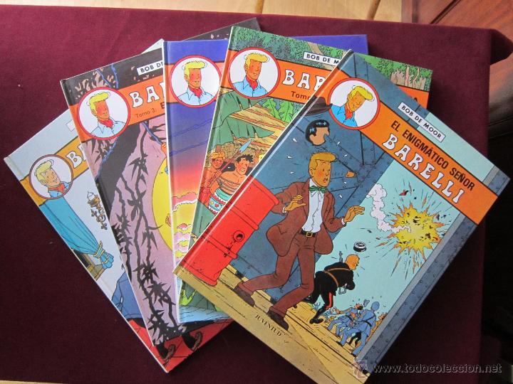 BARELLI. COLECCIÓN COMPLETA 5 TOMOS. BOB DE MOR. EDITORIAL JUVENTUD 1990-1992 TEBENI COMO NUEVOS (Tebeos y Comics - Juventud - Barelli)
