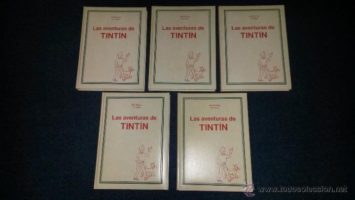 TINTIN COLECCION COMPLETA 5 TOMOS JUVENTUD STUDIO CREDILIBRO 1991 GUAFLEX (Tebeos y Comics - Juventud - Tintín)