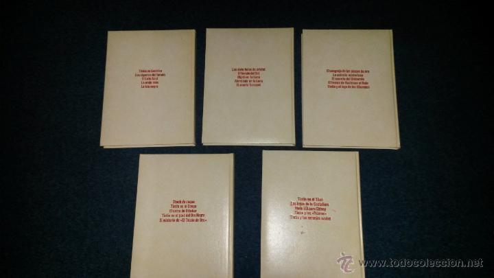 Cómics: TINTIN COLECCION COMPLETA 5 TOMOS JUVENTUD STUDIO CREDILIBRO 1991 GUAFLEX - Foto 2 - 49370734