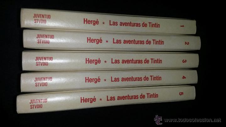 Cómics: TINTIN COLECCION COMPLETA 5 TOMOS JUVENTUD STUDIO CREDILIBRO 1991 GUAFLEX - Foto 3 - 49370734