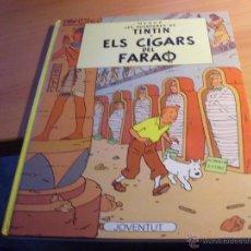 Cómics: LES AVENTURES DE TINTIN. ELS CIGARS DEL FARAO. EN CATALAN. TAPA DURA 1990 (CLA17). Lote 49453352