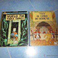 Cómics: TINTIN VUELO 714 PARA SIDNEY 1 EDICIÓN JUVENTUD, 1969 REGALO CETRO DE OTTOKAR 1972. Lote 49466463