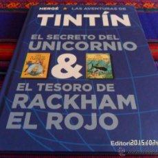 Cómics: TINTIN EL SECRETO DEL UNICORNIO Y EL TESORO DE RACKHAM EL ROJO. JUVENTUD 2011. NUEVO.. Lote 50232878