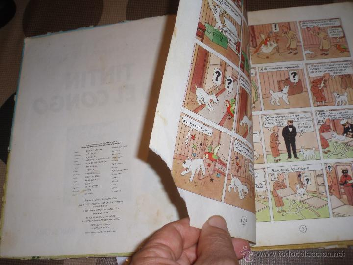Cómics: tintin en el congo primera edicion 1968 usado - Foto 7 - 50274152