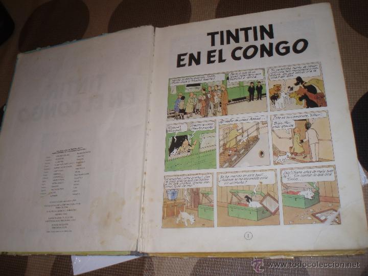 Cómics: tintin en el congo primera edicion 1968 usado - Foto 8 - 50274152