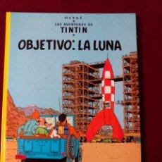 Cómics: TINTIN .- OBJETIVO LA LUNA .- EDITORIAL JUVENTUD 1990. Lote 50718848