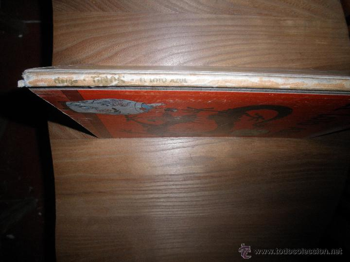 Cómics: LAS AVENTURAS DE TINTIN. HERGE. EL LOTO AZUL. 1ª EDICION 1965. LOMO AZUL. EDITORIAL JUVENTUD - Foto 2 - 111433196