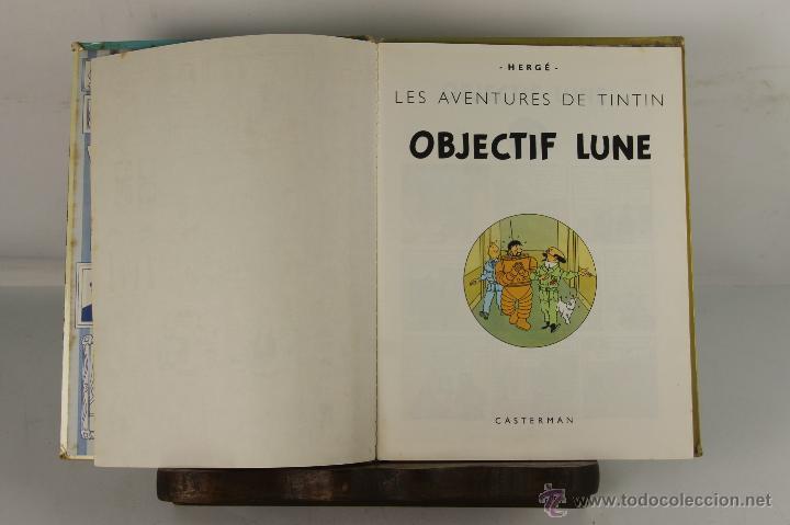 5251- OBJECTIF LUNE. HERGE. EDIT. CASTERMAN. PRIMERA EDICION EN FRANCES. 1953. (Tebeos y Comics - Juventud - Tintín)