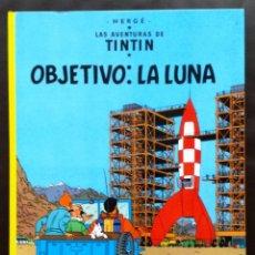 Cómics: OBJETIVO LA LUNA LAS AVENTURAS DE TNTIN HERGÉ EDITORIAL JUVENTUD TAPA DURA 1992. Lote 51067913