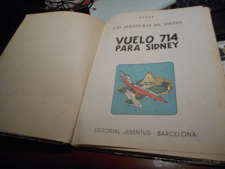 Cómics: primera edicion vuelo 714 para sidney 1969 tintin - Foto 2 - 51588629