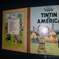 Cómics: TINTIN LOMO TELA - TINTIN EN AMERICA - PRIMERA EDICION 1968 ESPAÑOL CASTELLANO- HERGE. Lote 51699606