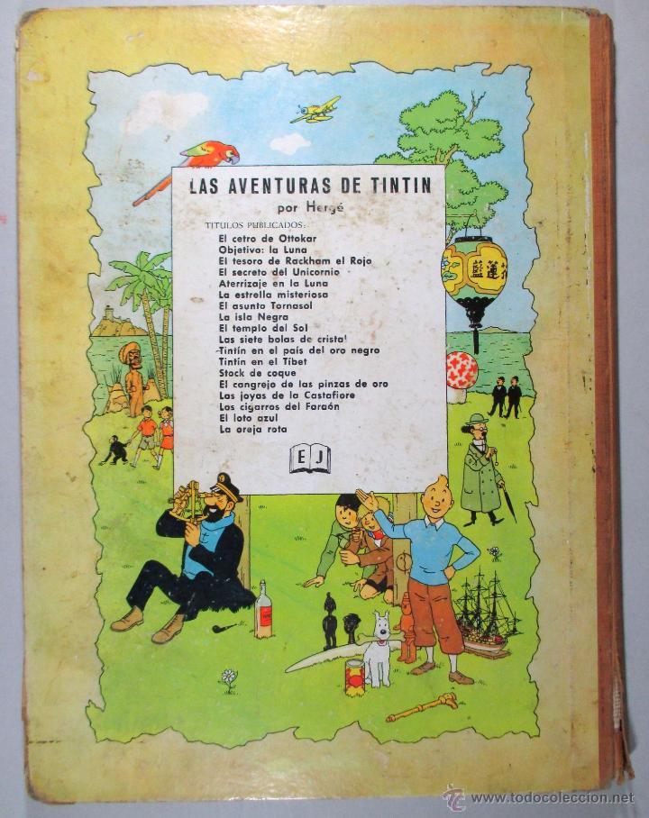 Cómics: TINTIN - EL ASUNTO TORNASOL - HERGÉ - SEGUNDA EDICIÓN, 1965 - ED. JUVENTUD - Foto 3 - 57577955
