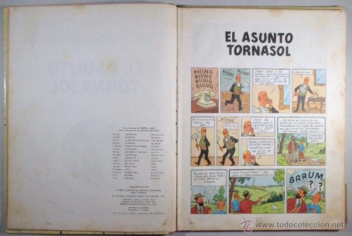 Cómics: TINTIN - EL ASUNTO TORNASOL - HERGÉ - SEGUNDA EDICIÓN, 1965 - ED. JUVENTUD - Foto 6 - 57577955