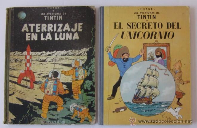 ATERRIZAJE EN LA LUNA Y EL SECRETO DEL UNICORNIO (Tebeos y Comics - Juventud - Tintín)