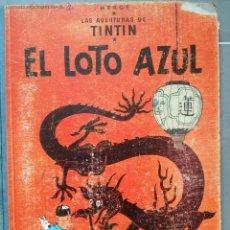 Cómics: COMIC TINTIN,EL LOTO AZUL,PRIMERA EDICIÓN,REGULAR ESTADO,BUEN PRECIO,1965. Lote 52568173