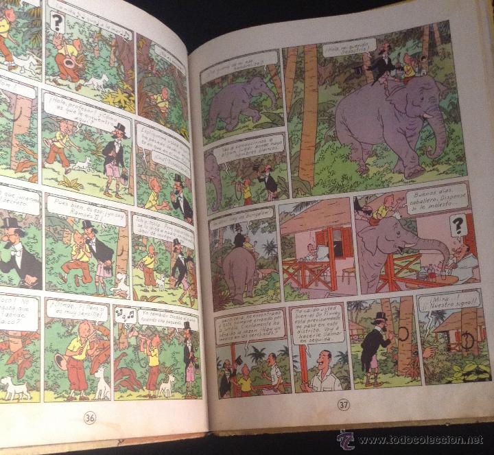 Cómics: las aventuras de tintin los cigarros del faraon primera edicion 1964 - Foto 3 - 52609975