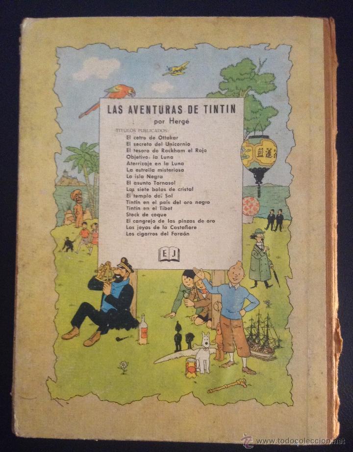 Cómics: las aventuras de tintin los cigarros del faraon primera edicion 1964 - Foto 4 - 52609975