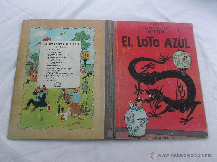 TINTIN, EL LOTO AZUL, 1 EDICION1965, JUVENTUD, VER FOTOS PARA VER DEFECTOS (Tebeos y Comics - Juventud - Tintín)