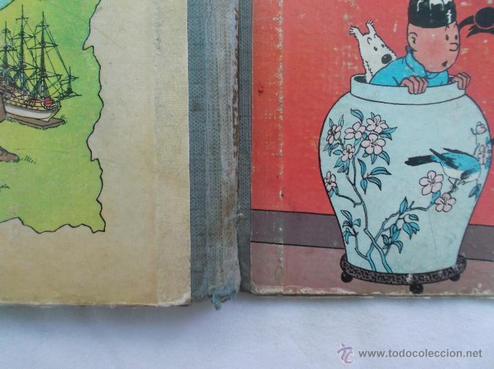Cómics: TINTIN, EL LOTO AZUL, 1 EDICION1965, JUVENTUD, VER FOTOS PARA VER DEFECTOS - Foto 2 - 52813404