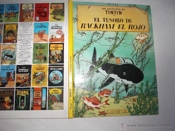 LAS AVENTURAS DE TINTIN: EL TESORO DE RACKHAM EL ROJO. HERGE. EDITORIAL JUVENTUD, 1990 (Tebeos y Comics - Juventud - Tintín)