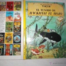 Cómics: LAS AVENTURAS DE TINTIN: EL TESORO DE RACKHAM EL ROJO. HERGE. EDITORIAL JUVENTUD, 1990. Lote 53188700