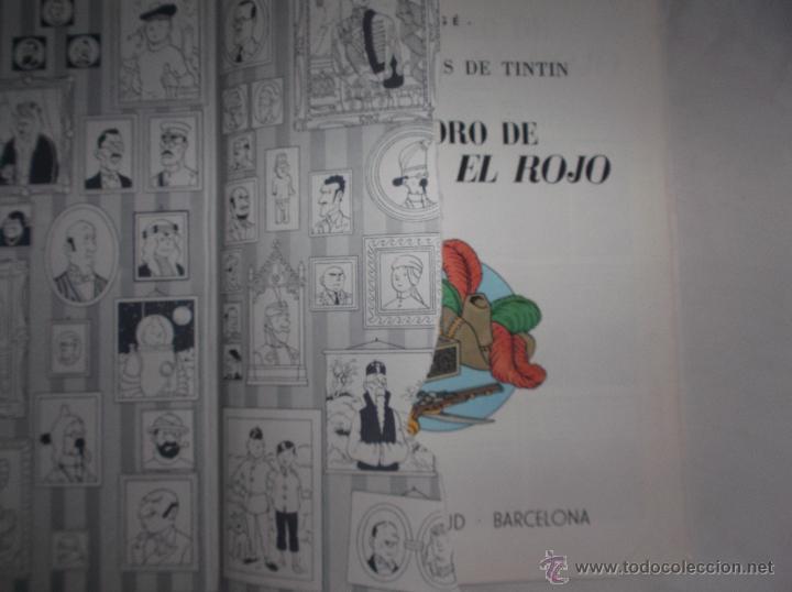 Cómics: LAS AVENTURAS DE TINTIN: EL TESORO DE RACKHAM EL ROJO. HERGE. EDITORIAL JUVENTUD, 1990 - Foto 3 - 53188700